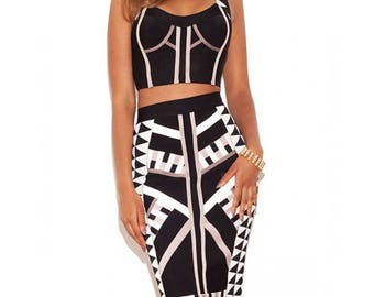 Ethnic Bandage together with Top and skirt
