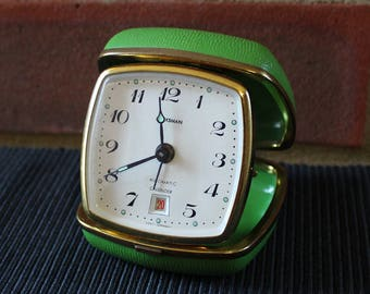 MARKSMAN travel alarm clock, West Germany