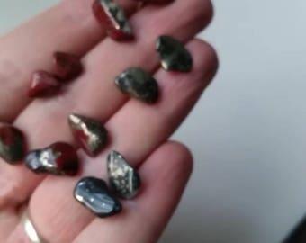 Brecciated Jasper stone studs