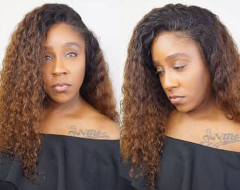 Brazilian Ombré Curly Lace Front Wig | READY TO SHIP