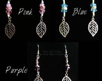 Swarovski Silver Leaf Drop Earrings