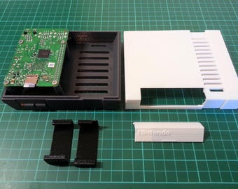 3D Printed Nintendo NES Raspberry Pi Case. Retro Video Games Console.