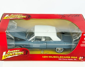 Johnny Lightning1964 Chevy Impala SS Muscle Cars R54 1/24 Scale Diecast Car