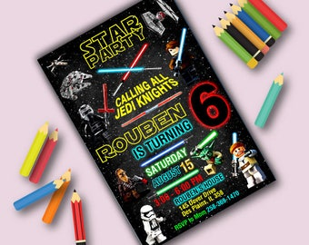 Star Wars Invitation,Star Wars Birthday,Star Wars Birthday Invitation,Star Wars Party,Star Wars Birthday Party,Star Wars Invite