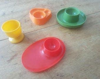 Lot de 4 coquetiers - Set of 4 egg cups