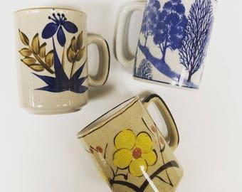 Vintage Mug // Ceramic Coffee Cup // VTG Floral Mug