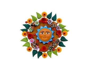 "Mexican Sun ""Sol de la Vida 5"" - Mexican Sun made of Clay, Clay work, Pottery"