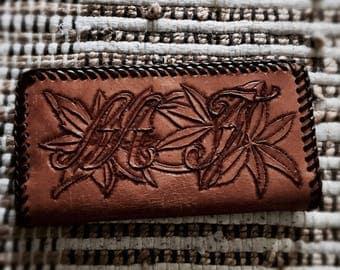 Vintage genuine leather wallet | Handmade wallet