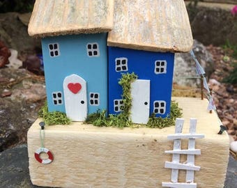 Handmade,Wooden,Cottages,Houses,Collectable,Gift