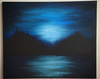 Original artwork Blue Mountains Acrylic on Canvas