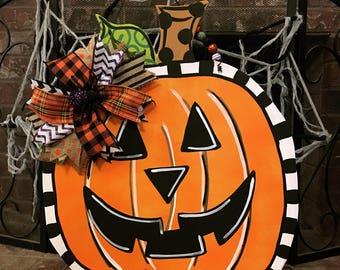 Pumpkin Halloween Doorhanger