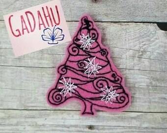 Christmas Tree feltie. Embroidery Design 4x4 hoop Instant Download. Felties