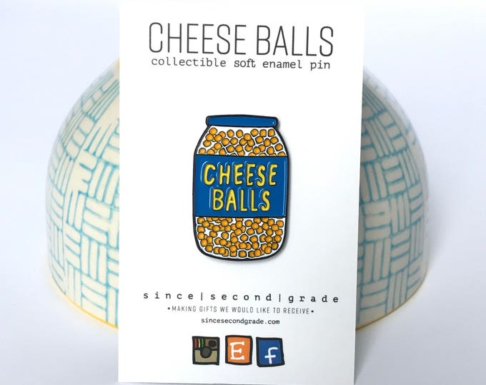 Cheese Balls Enamel Pin by Since Second Grade