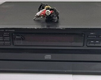 Vintage Kenwood DP-R4430 5 CD Disc Changer Player (1991) With Cables