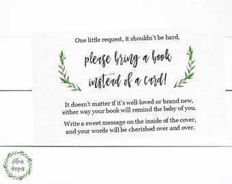 Baby Shower Book Cards