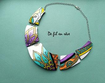 Handmade polymer paste Necklace (C46)