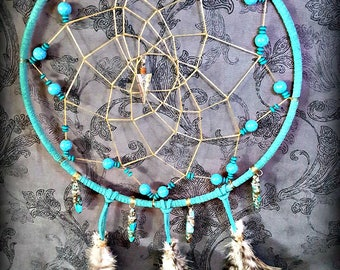 Turquoise Dream Catcher For Peaceful Sleep