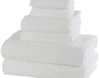 6 Piece Set 100% Egyptian Cotton Luxury Towel Set Free of Harsh Chemicals and Dyes - We donate to UNICEF
