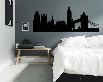 Europe, Germany, UK, London, Cityscape Silhouette Wall Decal