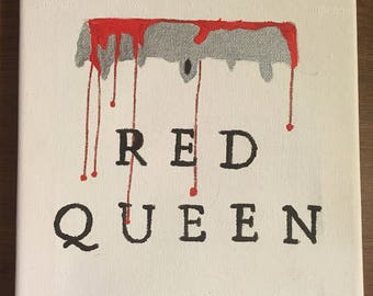 Red queen book cover painting