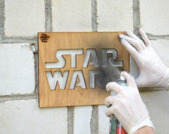 Pochoir mural personnalis etsy - Pochoir star wars ...