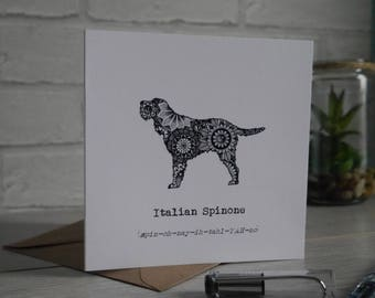 Italian Spinone Card, Italian Spinone, Italian Spinones, Gifts For Italian Spinone Lovers, Birthday Card, Thank You, Blank Card, Spinone