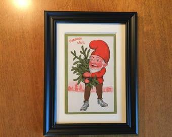 Danish Christmas Postcard, Antique
