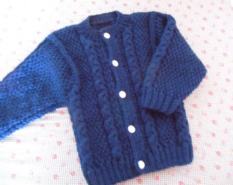 Navy Blue cardigan vest