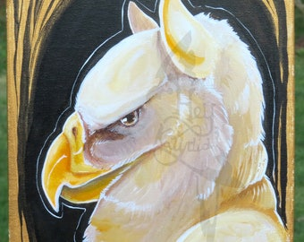 8x10 Painting of a Griffin - SALE