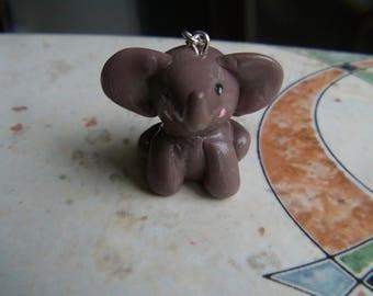 cute little elephant Fimo chocolate milk