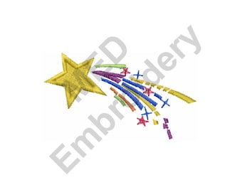 Shooting Star - Machine Embroidery Design