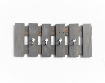 Gray Weathered Coat Rack