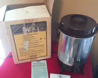 Vintage Wesco 8 to 32 Cup Commercial Coffee Maker With Original Box