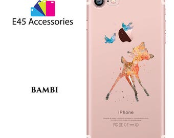 BAMBI Disney Watercolour Hard Case for iPhone 5S 5 SE, iPhone 6S 6 or iPhone 7