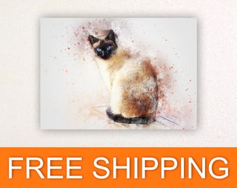 Nursery decor watercolor shabby chic prints posters wall stickers wall decor wall art animals cat cats