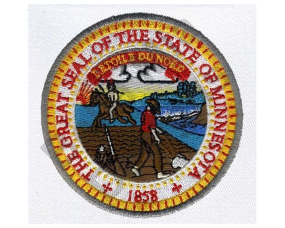 state seal machine embroidery design minnesota state seal