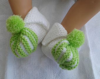 baby pumpkin way Apple green and white