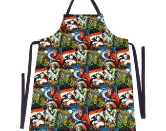 Classic Hollywood Monsters Apron