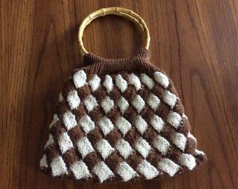 Knit Entrelac Purse