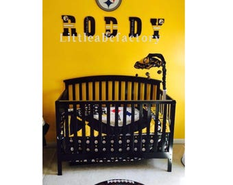 Sport Letters, NFL Letters, NFL Team Letters, 11in Pittsburgh Steelers  Letters, Nursery
