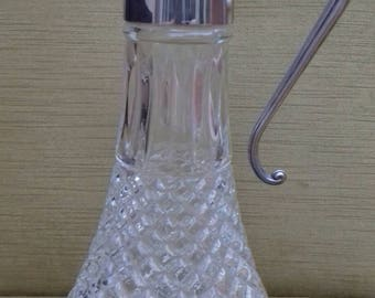 Silver plated Made In England hallmarked claret jug