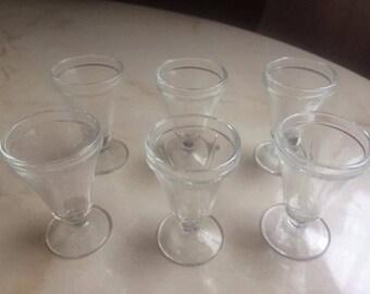 Set of 6 vintage shot glasses