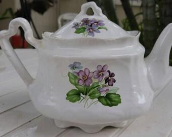 Arthur Wood Teapot Violets patters