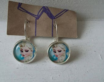 Frozen fancy earrings