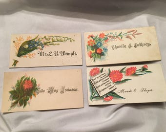 Lot of Victorian calling cards
