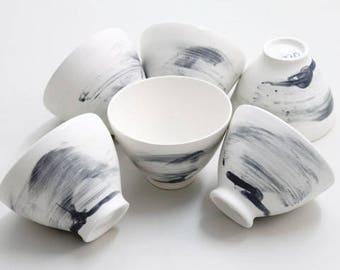 cream bowl set of six