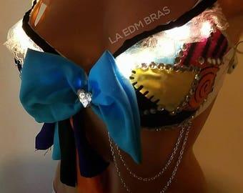 Led sally nightmare before Christmas rave bra costume top cosplay