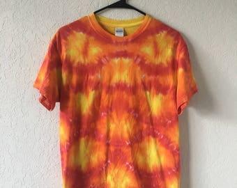 Fish Scale Tie Dye T-Shirt, size MEDIUM