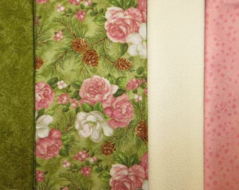 4 Half Yard Cuts  2 YARDS TOTAL  Hoffman Floral Grouping