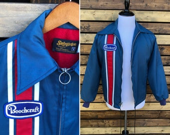 Vintage 70's Swingster Beechcraft Aviation jacket | Made in USA